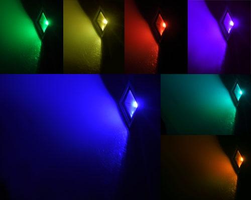 Faretti rgb da esterno faro led rgb w illuminazione da esterno