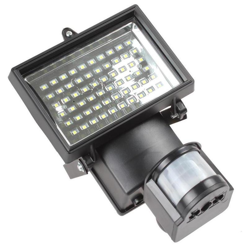 Luce Per Esterno Con Pannello Solare.Faro Faretto Esterno 60 Led 10w Sensore Di Movimento Pannello Solare Luce Bianca
