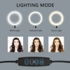 ANELLO LUMINOSO A LED CON TREPPIEDI PER SELFIE LUCE TIK TOK RING LIGHT TELEFONO