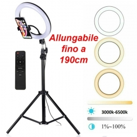 ANELLO LUMINOSO A LED CON TREPPIEDI